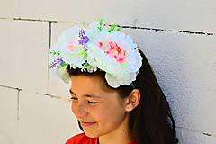 Ozdoby do vlasov - Čelenka-veľké kvety - 5591457_
