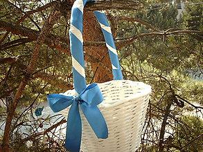 Košíky - Modrá svadba - pre družičky - 5591974_