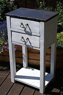 Nábytok - Stolík s dvoma šuflíkmi - 5591781_