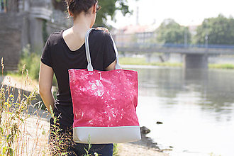 Veľké tašky - Maxi fuchsiová s šedou - 5595436_
