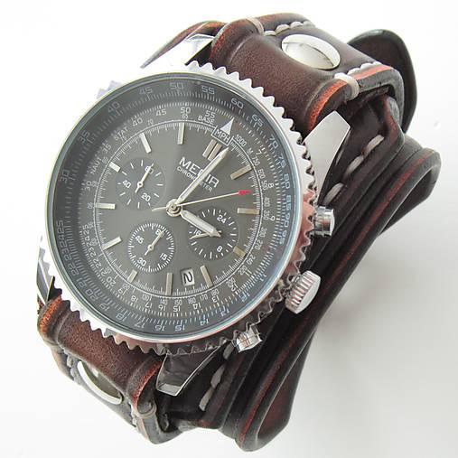 af1803801 Kožené hodinky hnedé / leon - SAShE.sk - Handmade Náramky