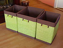 Košíky - Kôš na prádlo - zelený - 5594342_