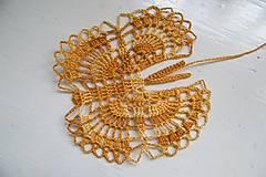 Dekorácie - Melírovaný motýlik - 5596230_