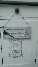 Dekorácie - Tabuľka na dvere 27x12 - 5598478_