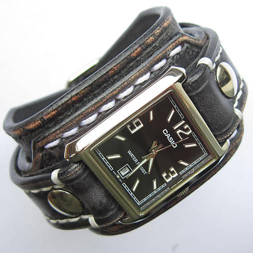 b5a43007b Pánske kožené hodinky CASIO čierne / leon - SAShE.sk - Handmade Náramky