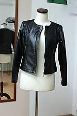 Kabáty - Čierna koženková bunda - 5597989_