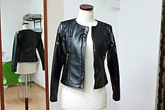 Kabáty - Čierna koženková bunda - 5597990_