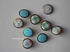 Galantéria - Modré buttonky - 5598140_