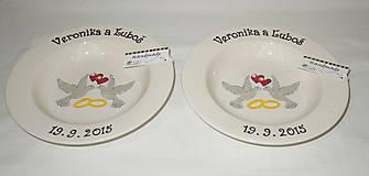 - Svadobné taniere holubičky - 5599388_