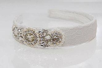 Ozdoby do vlasov - Lace Wedding Collection ... čelenka - 5599722_