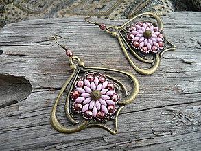 Náušnice - Náušnice Indické pudrové květy - 5601909_