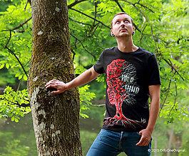 Tričká - Pánske tričko maľované TREE YOUR MIND - 5600264_