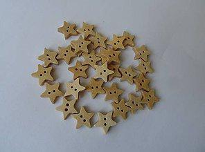 Galantéria - Drevené gombíky - hviezdičky - 5601832_
