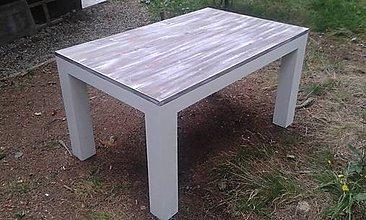 Nábytok - Jedálenský stôl z masívneho smreku-Retro-biely - 5601965_