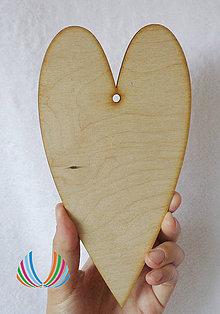 Polotovary - Drevené srdce 10x20 cm - 5601108_