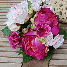 Kytice pre nevestu - Peony and Roses ... kytice - 5602754_