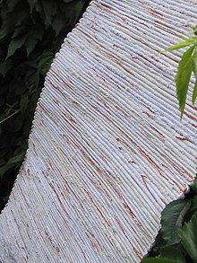 Úžitkový textil - koberec 70 x 150cm ,,biely,,pokreslený - 5604230_