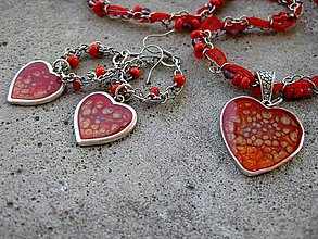 Sady šperkov - Veselé srdiečka - sada - akcia č.221 - 5604335_