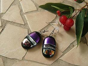 Náušnice - Violet-silver-pink - 5605123_