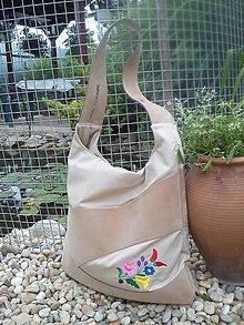 Veľké tašky - Vyšívaná taška - 5606227_