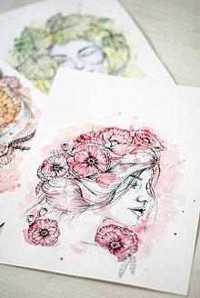 Obrazy - Akvarelový portrét na zákazku - 5608105_