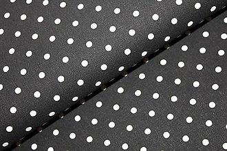 Textil - Evergreen - čiernobiela bodka - 5607930_