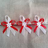 - Červené svadobné pierka 8,5 cm - 5608908_