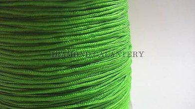 Galantéria - Shamballa šnúrka nylonová 0,8 mm - jablčkovo zelená - 5607618_