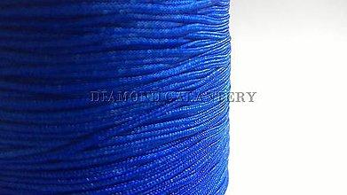 Galantéria - Shamballa šnúrka nylonová 0,8 mm - kráľovská modrá - 5607619_