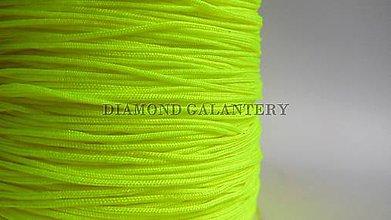 Galantéria - Shamballa šnúrka nylonová 0,8 mm - neonovo žltá - 5607631_