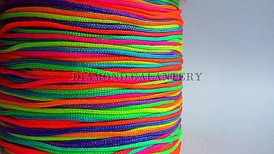 Galantéria - Shamballa šnúrka nylonová 0,8 mm - multicolor - 5607637_
