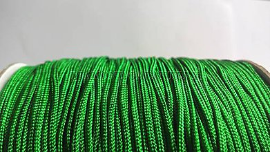 Galantéria - Shamballa šnúrka nylonová 1,5 mm - zelená - 5608321_
