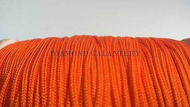 Galantéria - Shamballa šnúrka nylonová 1,5 mm - oranžová - 5608324_