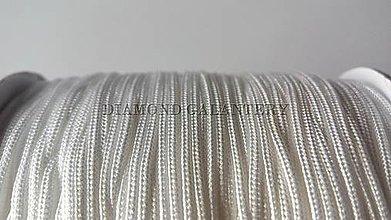Galantéria - Shamballa šnúrka nylonová 1,5 mm - biela - 5608333_