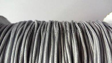 Galantéria - Shamballa šnúrka nylonová 1,5 mm - sivá - 5608347_