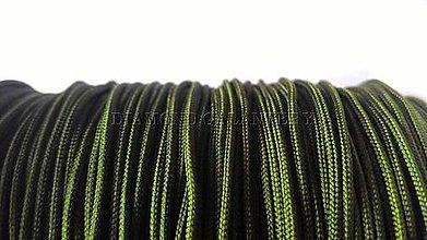 Galantéria - Shamballa šnúrka nylonová 1,5 mm - olivovo zelená - 5608366_
