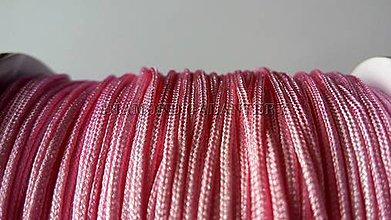 Galantéria - Shamballa šnúrka nylonová 1,5 mm - svetlo ružová - 5608383_