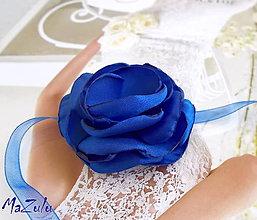 Náramky - svadobný náramok - kráľovská modrá - 5607223_