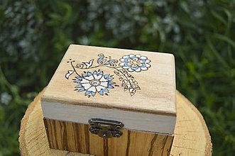 Krabičky - Šperkovnica so zrkadlom- stredná - 5608017_