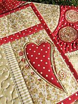 Úžitkový textil - Srdce k srdcu - prestieranie - 5609087_