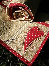 Úžitkový textil - Srdce k srdcu - prestieranie - 5609092_