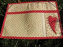 Úžitkový textil - Srdce k srdcu - prestieranie - 5609093_