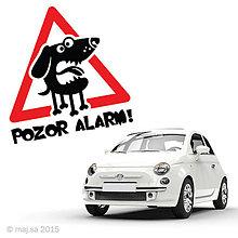 Pre zvieratká - nálepka - POZOR PES! - 5607036_