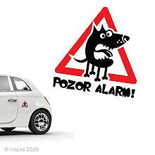 Pre zvieratká - nálepka - POZOR PES! - 5607041_