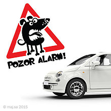 Pre zvieratká - nálepka - POZOR PES! - 5607044_