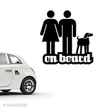 Pre zvieratká - nálepka - ON BOARD! - 5607091_
