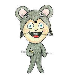 Kresby - Ako myška - 5608384_