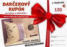 Úžitkový textil - darčeková poukážka v hodnote 120 eur - 5610894_