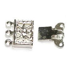 Komponenty - Mechanické zapínanie - Star, strieborné - 5609401_