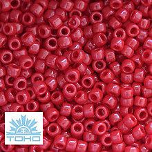 Korálky - TOHO rokajl (Round 1,6mm) Opaque pepper red - 5609470_